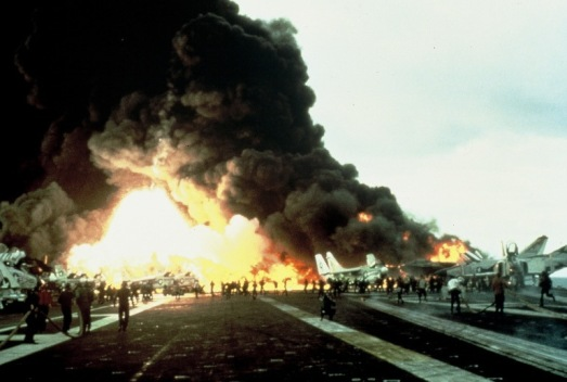 Image result for uss enterprise explosion images
