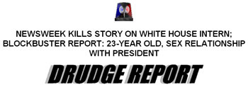 drudge report scoop on lewinsky