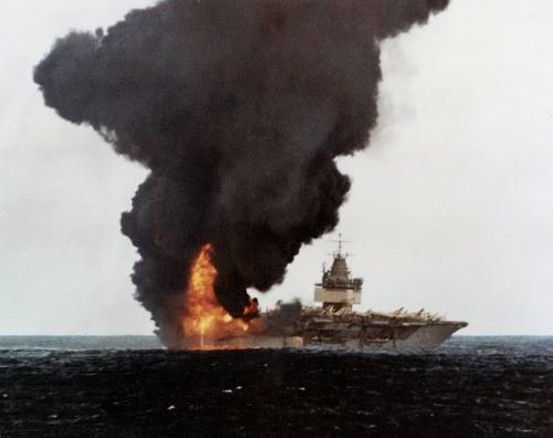 USS Enterprise fire 14 January 1969