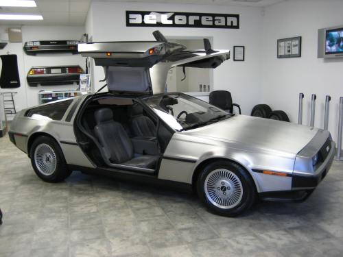 delorean showroom car